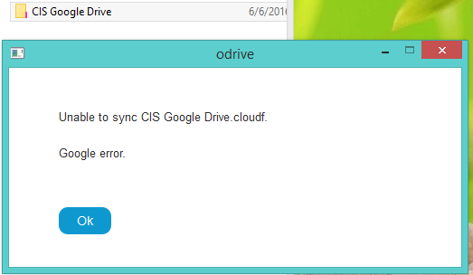 google drive sync problems
