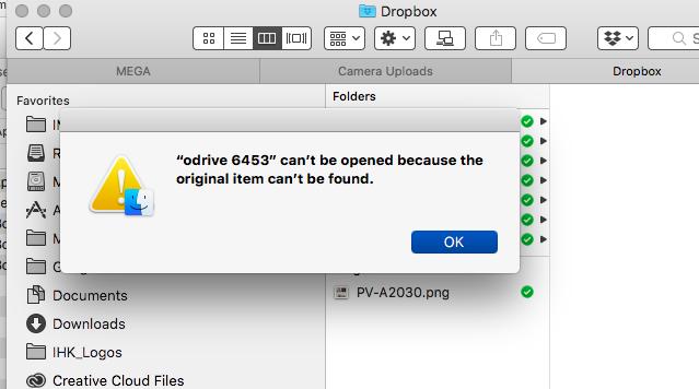 Installation Error for Mac odrivesync 6453 dmg file