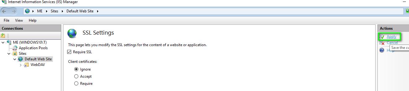 How do I setup a WebDAV Server on Windows and link it to